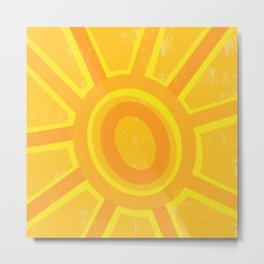 Here Comes the Sun! Metal Print