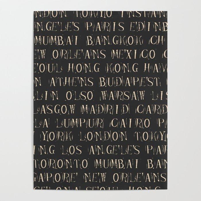 Major World New York >> Major World Cities Iv Poster By Vampvintage