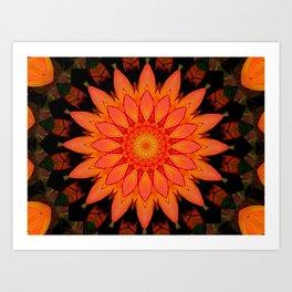 Kaleidoskop Blume Art Print