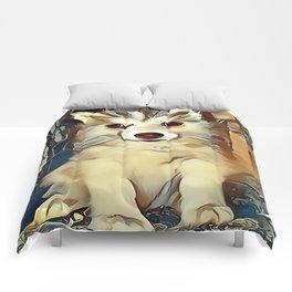Siberian Husky Puppy Comforters