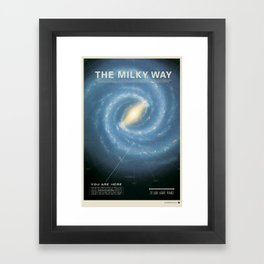 THE GALAXY - Milky Way | Space | Time | Stars | Science | Planets Framed Art Print