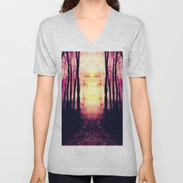 Path to Imagination : Mauve Pink Purple Unisex V-Neck