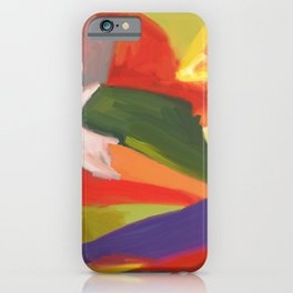 Desert Island Daydreaming Abstract Landscape iPhone Case