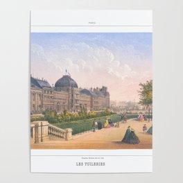 Les tuileries Paris France Poster