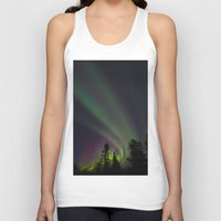 northern lights Tank Tops featuring Northern Lights 3 by Pamela Barron