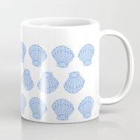 shells Mugs featuring Shells by BIGEHIBI