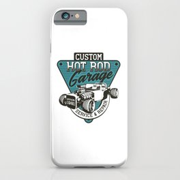 Hot Rod - Classic Racing Cars - bright iPhone Case