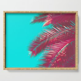 Neon Palm Serving Tray