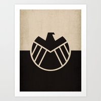 agents of shield Art Prints featuring Agents fo Shield by The Retro Inc