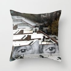 Eyes :: JR in New York City Throw Pillow