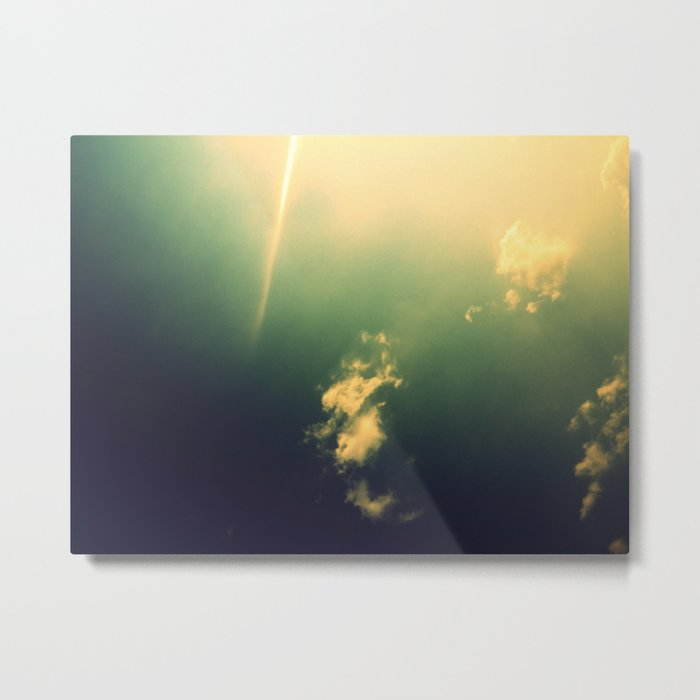 And a Lone Ray Shone Down Metal Print