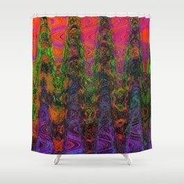 Really Way Far Out Shower Curtain