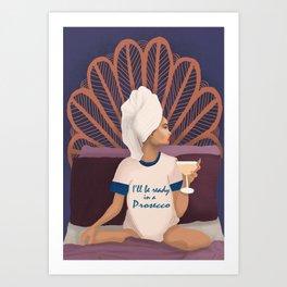 Ms. Prosecco Art Print