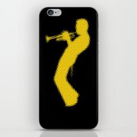 miles davis iPhone & iPod Skins featuring Davis Halftones by giancio