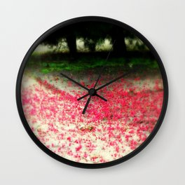 Colour under the Tree Wall Clock