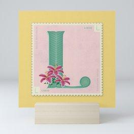 Sellos Naturales. Letter L. Flower: Lilly Mini Art Print