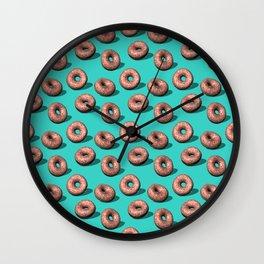 Red Velvet Doughnuts Wall Clock
