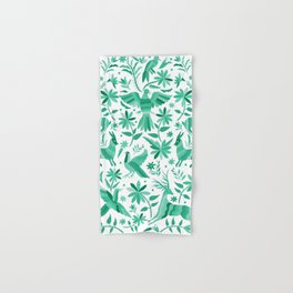 Mexican Otomí Design in Turquoise Hand & Bath Towel