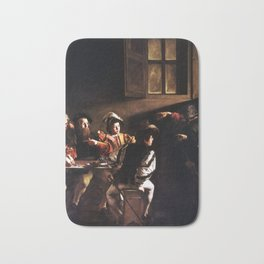 Caravaggio The Calling of Saint Matthew Bath Mat