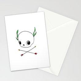 Skull Emblem Stationery Cards