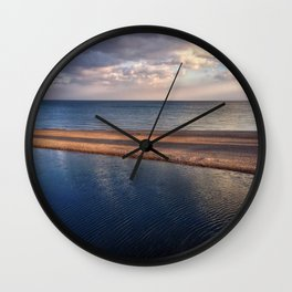 Golden Hour at Rouge River II Wall Clock