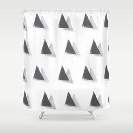 black and grey Shower Curtain