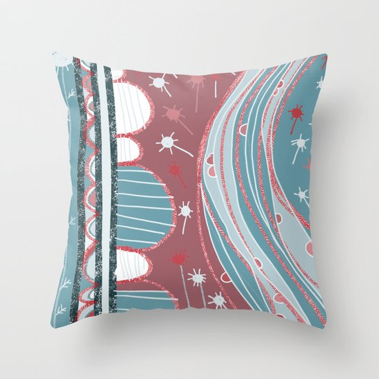 A country walk Throw Pillow