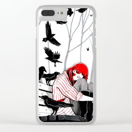 Crows and Ravens Clear iPhone Case