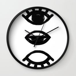 sleepy eye - all-seeing eye Wall Clock
