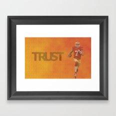 Run Kaep Framed Art Print