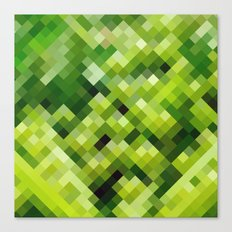 Green diamond pattern Canvas Print