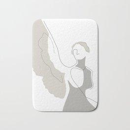 Cream Wings Bath Mat