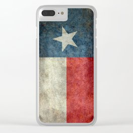 Texas state flag, vintage banner Clear iPhone Case