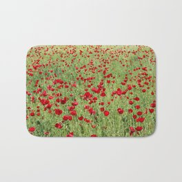 A Pasture Of Red Poppies and Remembrance Bath Mat