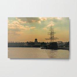 Neva River, The Vessel Metal Print