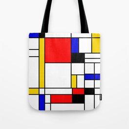 Bauhouse Composition Mondrian Style Tote Bag
