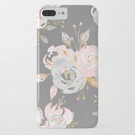 Night Rose Garden Gray iPhone Case
