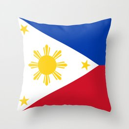 Republic of the Philippines national flag (50% of commission WILL go to help them recover) Throw Pillow