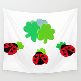 Lucky Ladybugs Wall Tapestry