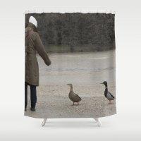 vienna Shower Curtains featuring Vienna duck by F130284