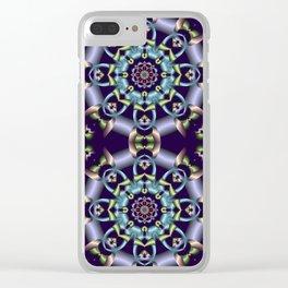 Silky pastel kaleidoscop Clear iPhone Case