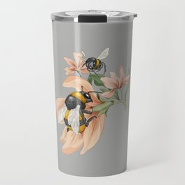 Bumblebees with Florals Travel Mug