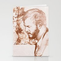bon iver Stationery Cards featuring Bon Iver (Justin Vernon) by ChrisGreavesArt