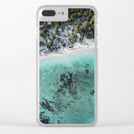 Caribbean blue beach Clear iPhone Case