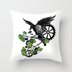 Raven and Ginkgo - Summer Cycle Throw Pillow