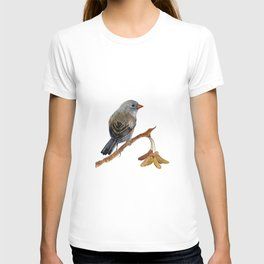 Bird Junco with Lillies T-shirt