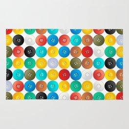Button pattern Rug