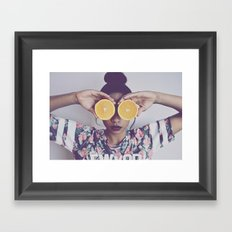 Orange You Happy Framed Art Print
