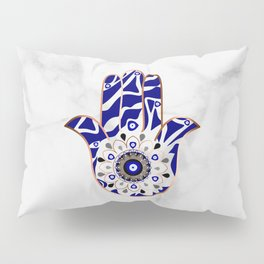 Talk to the Evil Eye Hamsa Hand Pillow Sham
