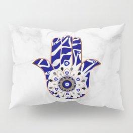 Talk to the Evil Eye Hamsa Hand Pillow Sham